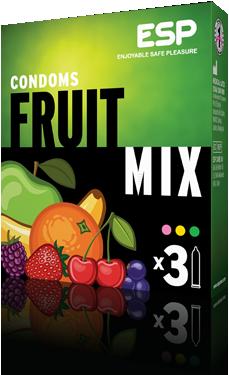 ESP Fruit Mix condoms, pack of 3