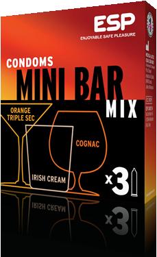 ESP MiniBar condoms, pack of 3