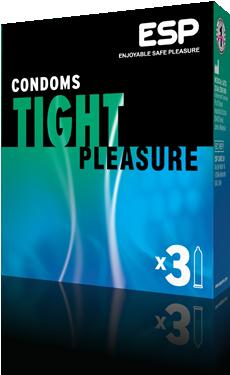ESP Tight Pleasure condoms, pack of 3